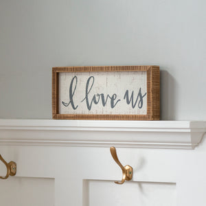 Inset Box Sign - I Love Us