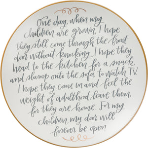 Memory Plate - For My Children Door Will Forever