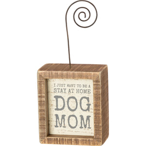 Photo Block- Dog Mom