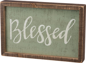Inset Box Sign - Blessed
