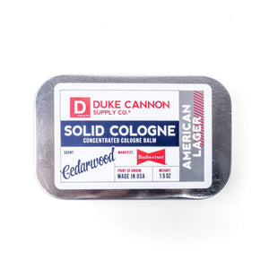 Duke Cannon American Lager Solid Cologne