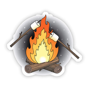 Campfire & Marshmallows Sticker