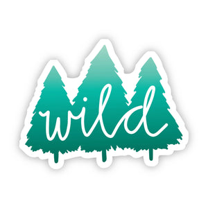 Wild Trees Green Nature Sticker