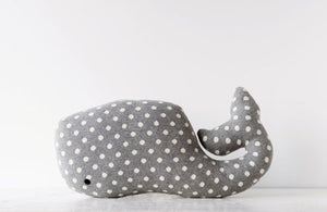 Cotton Whale Pillow