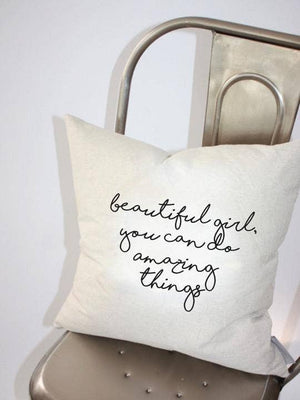 Beautiful Amazing Girl Pillow