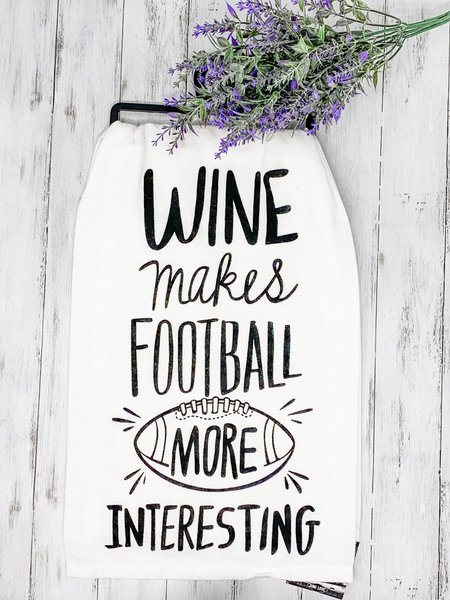 Dish Towel - Wine Football