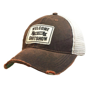 Distressed Trucker Cap - Welcome to the Show Rust