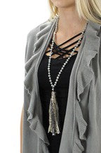 Tassel Necklace -Grey