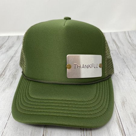 Thankful Stamped Trucker Hat
