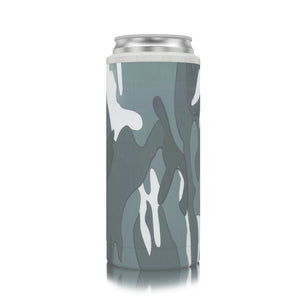 Slim Can Koozie Grey Camo