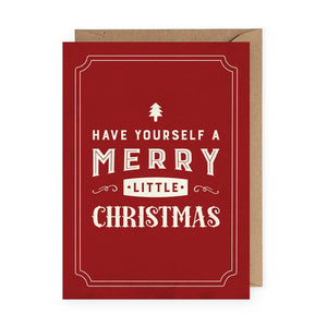 Merry Little Christmas Card - BOX SET of 5