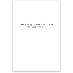 Greeting Card - Go Missing