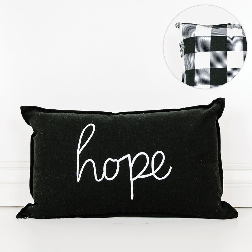 Black and White Hope Pillow