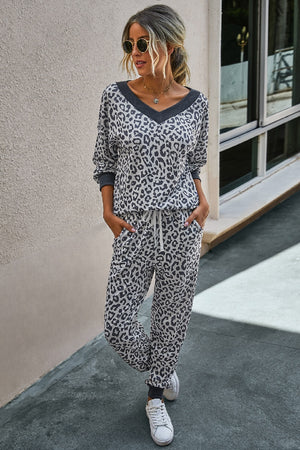 Charcoal Leopard Cozy Set
