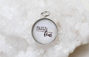 Round Charm Necklace - Faith Over Fear