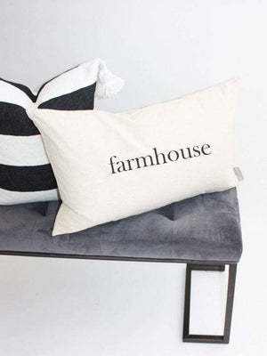 Farmhouse Kidney Pillow Cover