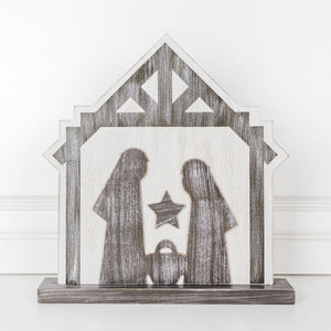 [CHRISTMAS] Wood Nativity Cutout