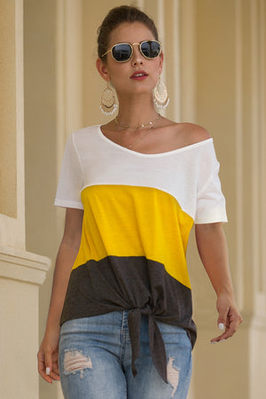 Knotted Colorblock Tee