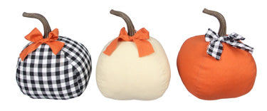 Fabric Pumpkins with Bow
