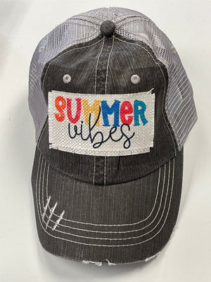 Summer Vibes Patch Trucker Hat