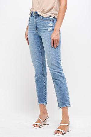 Hi-Rise Girlfriend Jeans