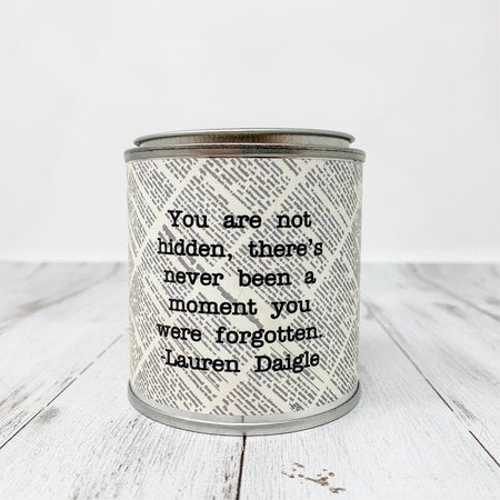 Quote Candle- Shiplap