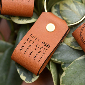 Inspirational Leather Tag Keychains