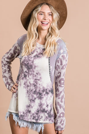 Lavender Multi-Print Top
