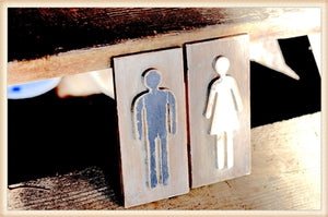 Man & Woman Plaque Set