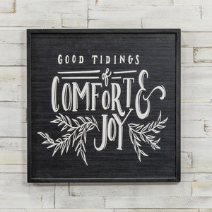 [CHRISTMAS] Good Tidings of Comfort and Joy Sign