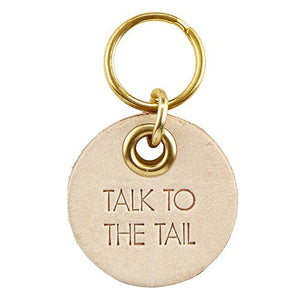 Leather Pet Tag - Talk to the Tail