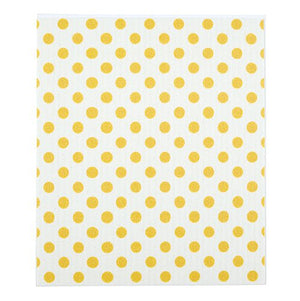 Baby Washcloth - Yellow Dot