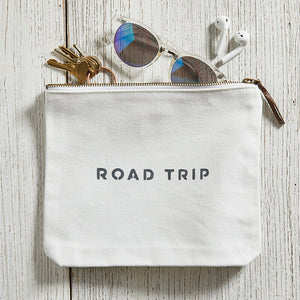 Canvas Zip Pouch - Road Trip