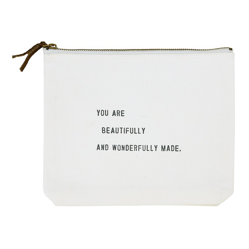 Canvas Zip Pouch - Beautifully and Wonderfully Made
