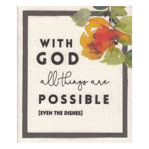 Organic Dishcloth - All Things Are Possible