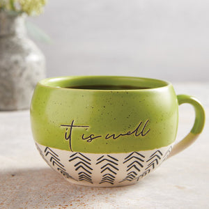 Stoneware It Is Well Mug