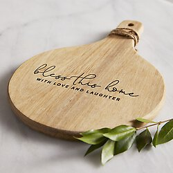 Cardboard Wood Paddle Cheese Board Set - Bless This Home