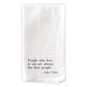 Dinner Napkin Set - People Who Love to Eat