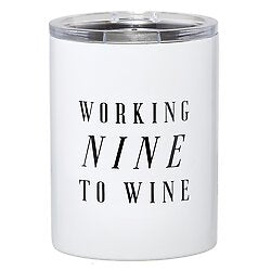 TRAVEL TUMBLER - WORKING NINE TO WINE