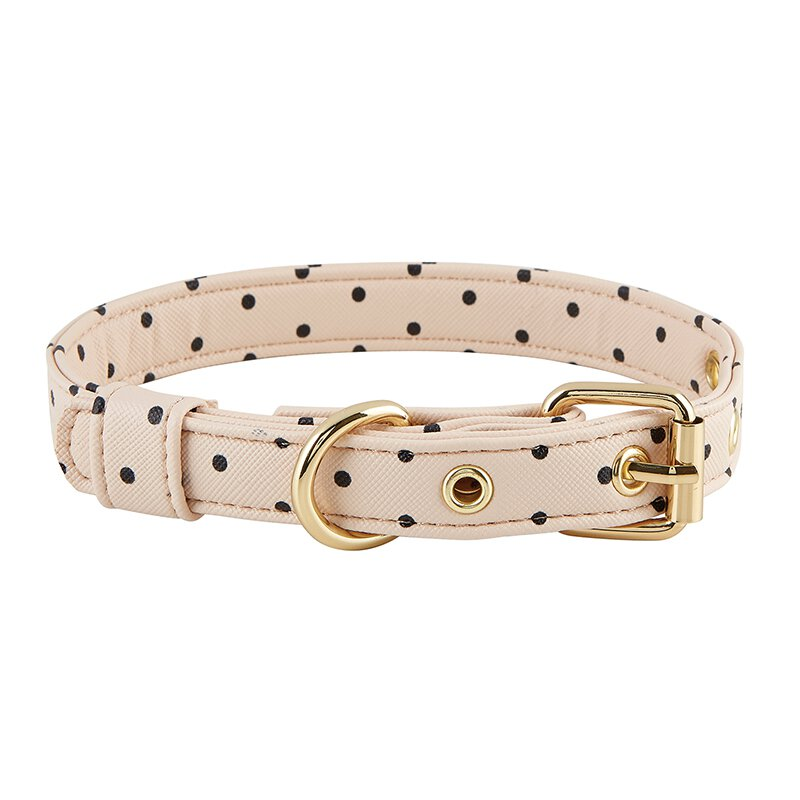 Saffiano Pet Collar - Blush