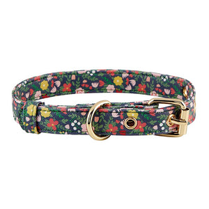 Saffiano Pet Collar - Floral