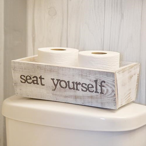 Hello Sweet Cheeks/Seat Yourself Reversible Toiletries Box