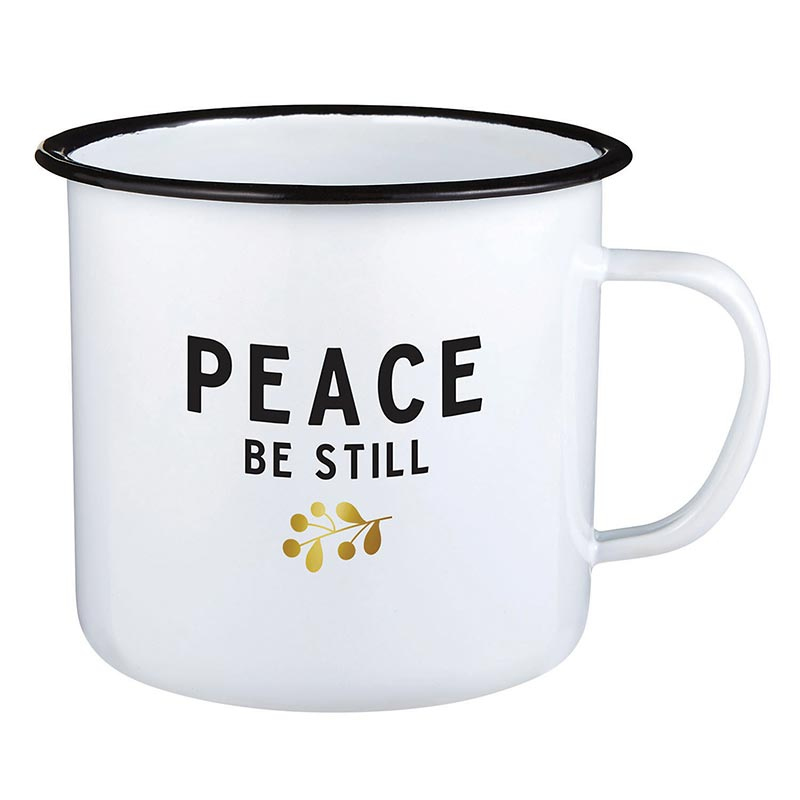 Enamel Mug - Peace Be Still