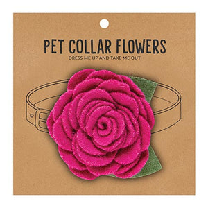 Medium Pet Collar Flower - Magenta