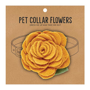 Medium Pet Collar Flower - Marigold