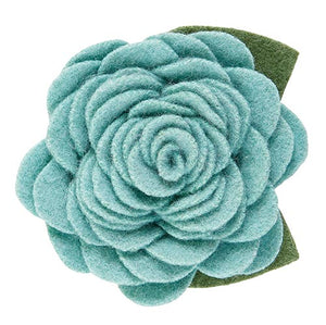 Large Pet Collar Flower - Aqua