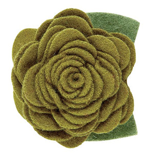 Large Pet Collar Flower - Olive
