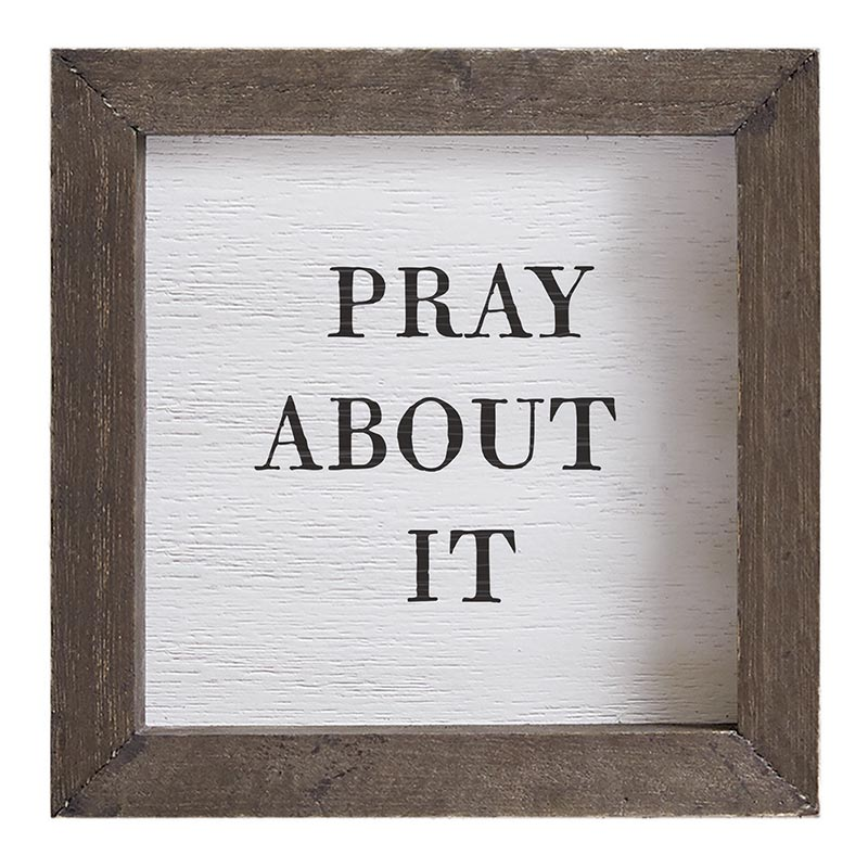 Petite Word Board - Pray About It