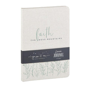 Linen Journal - Faith Can Move Mountains