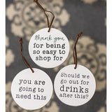 Wine Tag Gift Ornament Sets